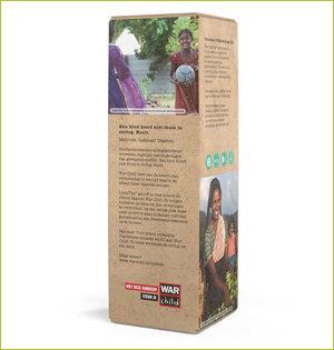 tea to go infuser War Child verpakking