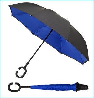 inside-out paraplu bedrukken - voorbeeld: inside-out paraplu blauw