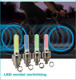 zichtbaar in het donker - voorbeeld: led ventiel verlichting