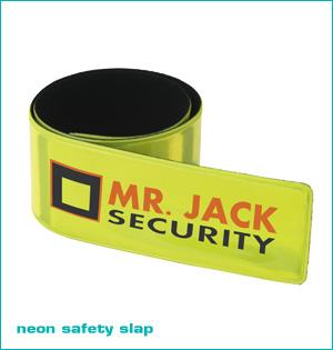 zichtbaar in het donker - voorbeeld: neon safety slap