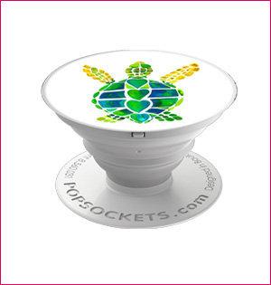 popsocket bedrukken - voorbeeld: Popsockets schildpad