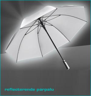 zichtbaar in het donker - voorbeeld: reflecterende paraplu
