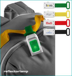 zichtbaar in het donker - voorbeeld: reflectorlamp