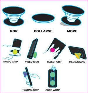 popsocket bedrukken - voorbeeld: uitleg Popsockets