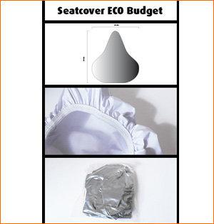 zadelhoesjes bedrukken - voorbeeld: zadelhoesje Eco Budget