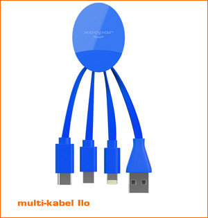 usb c oplaadkabel - voorbeeld: oplaadkabel Ilo blauw
