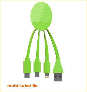 usb c oplaadkabel - voorbeeld: oplaadkabel Ilo groen