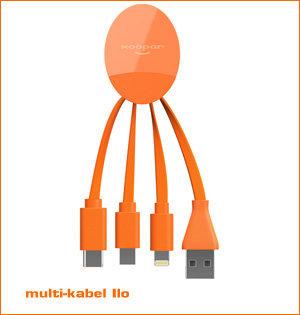 usb c oplaadkabel - voorbeeld: oplaadkabel Ilo oranje