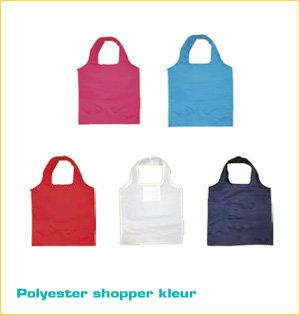 opvouwbare tasjes bedrukken - voorbeeld: polyester shopper kleur