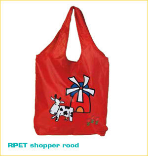 RPET shopper rood