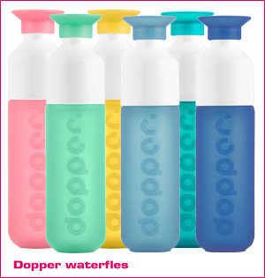 waterfles bedrukken - voorbeeld: Dopper waterfles