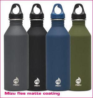 waterfles bedrukken - voorbeeld: Mizu fles matte coating 1