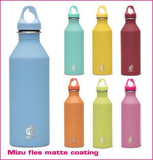 waterfles bedrukken - voorbeeld: Mizu fles matte coating