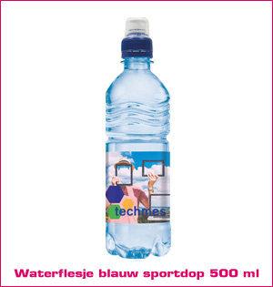 waterflesje blauw sportdop 500ml