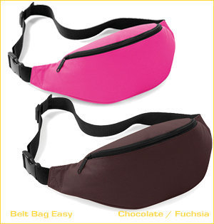 heuptassen bedrukken - voorbeeld: belt bag easy chocolate fuchsia