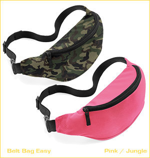 heuptas bedrukken - voorbeeld: belt bag easy pink jungle
