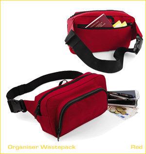 heuptassen bedrukken - voorbeeld: belt bag organiser wastepack red