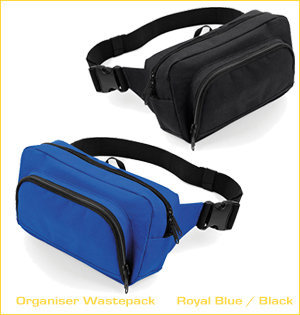 heuptassen bedrukken - voorbeeld: belt bag organiser wastepack royal blue black