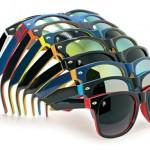 zonnebrillen-bedrukken - voorbeeld: two-tone zonnebrillen
