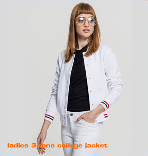 ladies 3 tone college jacket
