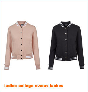 ladies college sweat jacket kleuren