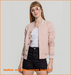 ladies college sweat jacket rose