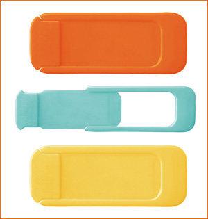privacy camera blokker geel oranje mint