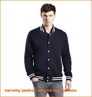 varsity jacket unisex bio cotton