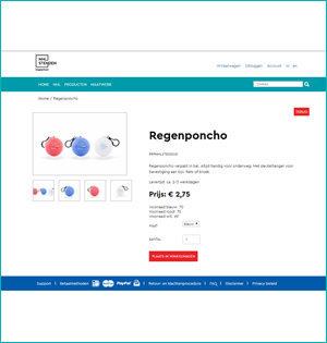 NHL Stenden webshop productpagina