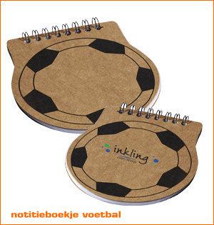 notitieboek voetbal