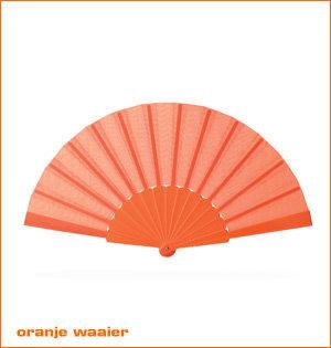 oranje artikelen - voorbeeld: oranje waaier