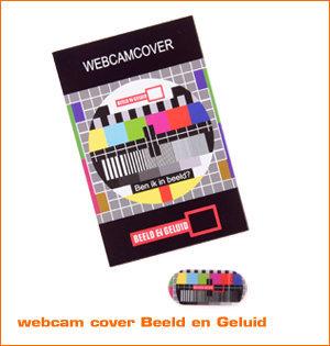 webcam cover bedrukken - voorbeeld: webcam cover Beeld en Geluid