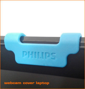 webcam cover bedrukken - voorbeeld: webcam cover laptop