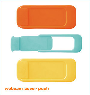 webcam cover bedrukken - voorbeeld: webcam cover Push mog