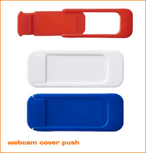 webcam cover bedrukken - voorbeeld: webcam cover Push rwb