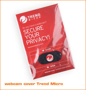 webcam cover bedrukken - voorbeeld: webcam cover Trend Micro