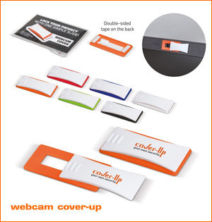 webcam cover bedrukken - voorbeeld: webcam cover Up