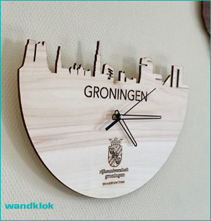 Wood Wide Cities wandklok Groningen
