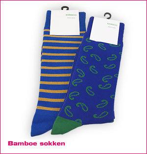 custom made sokken - voorbeeld: bamboe sokken