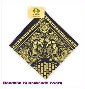 bandana Kunstbende gevouwen zwart