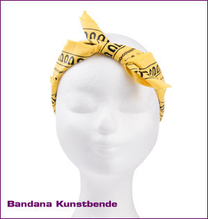 bandana Kunstbende strik