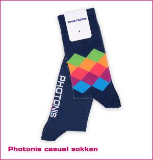 custom made sokken - voorbeeld: Photonis casual sokken