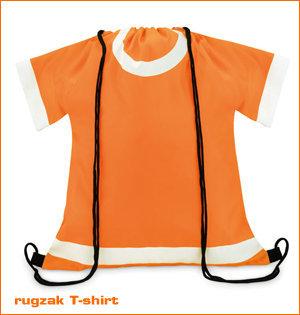 oranje rugzak T-shirt