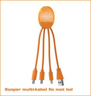 Xooper multi kabel Ilo led oranje