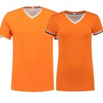 dames -en heren t-shirt oranje