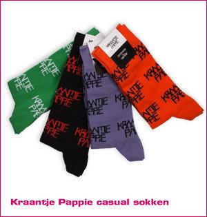 custom made sokken - voorbeeld: Kraantje Pappie casual sokken kleuren