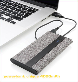 powerbank bedrukken - voorbeeld: powerbank chique 4000