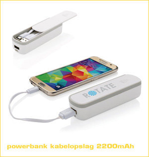 powerbank kabelopslag 2200
