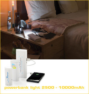 powerbank light 2500