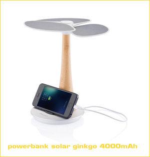 powerbank solar ginkgo 4000